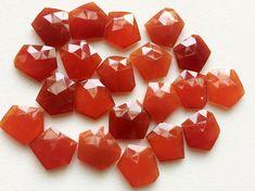 WHOLESALE 10 Pcs Orange Chalcedony Rose Cut by gemsforjewels