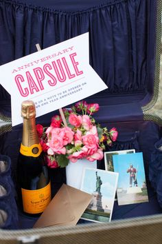 An anniversary capsule for the Bride and Groom  Photography by summerstreetphotography.com, Event Design by makewellmade.com