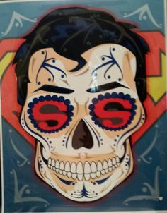 Superman Sugar Skull Art