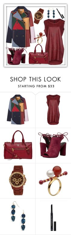 """Tory Burch - Cheval Peacoat"" by tlb0318 ❤ liked on Polyvore featuring Tory Burch, GUESS, Prada, Kenneth Cole, Ida Callegaro, BaubleBar and Christian Dior"
