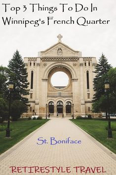 Things to do in St. Boniface in Winnipeg, Manitoba, Canada. Things to do in Winnipeg. This is the fourth of a series of Travel Guides for Winnipeg. Saint Boniface travel tips. Winnipeg French Quarter. Retirestyle Travel. Retire. Style. Travel. Retire Abroad. Snowbirds. French Cuisine. French Restaurants. Best Places To Retire, Cool Places To Visit, Travel Guides, Travel Tips, Canadian Travel, French Restaurants, Visit Canada, Travel Themes, French Quarter