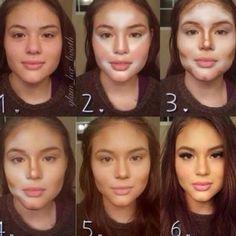 Makijaż - konturowanie twarzy