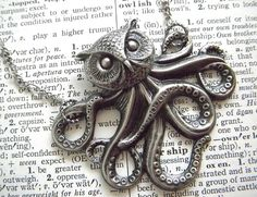 Steampunk Octopus Owl Necklace - love!