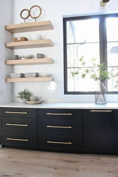 We have inset cabinets which means the doors and drawers fit inside the cabinet face frame opening. This design gives a more modern, streamlined look with the flush inset doors. Kitchen Remodel, Kitchen Design, Kitchen Inspirations, Modern Kitchen, New Kitchen, Kitchen Interior, Kitchen Style, Inset Cabinets, Modern Farmhouse Kitchens