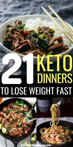 These keto dinners are perfect for the ketogenic or low carb diets. Some are made with beef, others with chicken; some are made in the crockpot, others are keto casseroles; all in all, you'll find keto recipes to satisfy your eve Low Carb Diets, Ketogenic Recipes, Low Carb Recipes, Diet Recipes, Healthy Recipes, Lunch Recipes, No Carb Dinner Recipes, Low Carb Meals, Dairy Free Keto Recipes