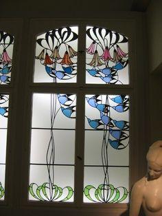 Baillie Scott, Stained glass window, 1902, Museum Kunstlerkölonie, Darmstadt,