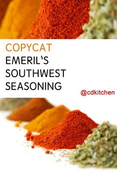 Emeril's (Almost) Southwest Seasoning Recipe from CDKitchen Homemade Spices, Homemade Taco Seasoning, Chili Seasoning, Seasoning Mixes, Spice Blends, Spice Mixes, Southwest Seasoning, Paprika Spice, Taco Spice