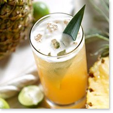 Tommy Bahama Recipe SOUTHERN CHARM  1 part Buffalo Trace™ Bourbon 1 part Southern Comfort® 1 part Licor 43® 1 ½ parts fresh pineapple juice ½ part fresh lime juice 2 dashes Angostura® bitters  Shake ingredients well with ice and strain into a Collins glass filled with ice. Garnish with a pineapple frond.