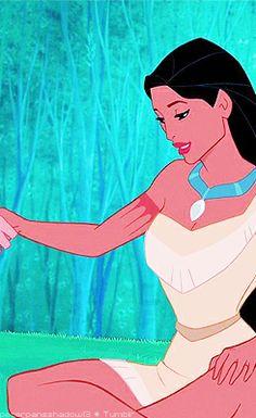 Pocahontas (c) 1995 Walt Disney Animation Studios Princess Pocahontas, Disney Pocahontas, Disney Princess Dresses, Disney Girls, Disney Love, Disney Magic, Disney Art, Disney And Dreamworks, Disney Pixar