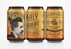 Reasonably Corrupt - great way to show 3 views of can and whole panel design