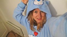 Loving my Care Bear onesie  see my weekly Giveaways & antics on https://www.youtube.com/user/halloweenpropsuk?sub_confirmation=1