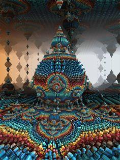 Mandelbulb {by on DeviantArt} Fractal Geometry, Sacred Geometry, Fractal Design, Fractal Art, Arte Hippy, Art Visionnaire, Psy Art, Visionary Art, Psychedelic Art