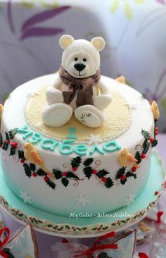 Teddy Bear Christmas Cake - Cake by marulka_s