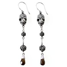 Skull and Roses Earrings by Controse InkedShop