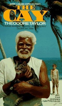 The Cay by Taylor, Theodore published by Avon Books Mass Market Paperback , http://www.amazon.com/dp/B008TGD91O/ref=cm_sw_r_pi_dp_V4HQtb1NSA9BV