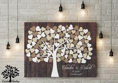 Hochzeit - TOP ANGEBOT!Gästebuch, Hochzeitsbaum, Wedding tree - ein Designerstück von cristalpainting bei DaWanda
