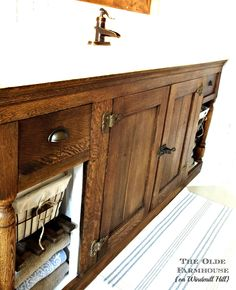 The Olde Farmhouse on Windmill Hill: Bathroom Update #4 - Vanity {Trash to Treasure Rescue}