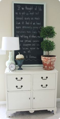 Her entire blog is Awesome. Gadzillions of great decorating ideas for pennies!!! Looks like PotteryBarn…. Side not I like the quote :) @ Do It Yourself Remodeling Ideas