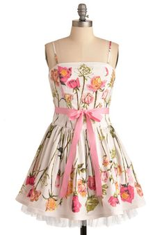 Betsey Johnson Antique Roses Dress