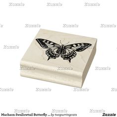 Machaon Swallowtail Butterfly Rubber Stamp