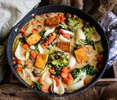 Coconut Cashew Tofu Vegetables - Havoc In The Kitchen