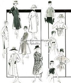 A la Recherche des Modes Perdues et Oubliées: Jardin des Modes - Avril 1956 *