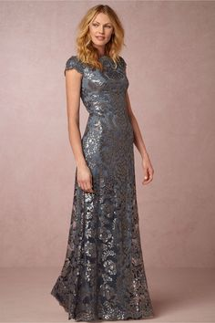 Blue lace mother-of-the-bride dress | Odette Dress from BHLDN