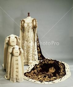 "Image detail for -... "" > Coronation dresses and robes worn by the Queen Mother and Prince"