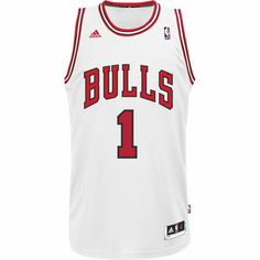 Camiseta Derrick Rose Chicago Bulls NBA, White / Red, zoom