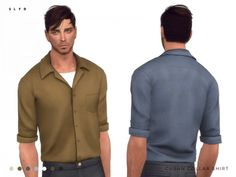The Sims Resource: Cuban Collar Shirt by SLYD • Sims 4 Downloads