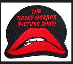"""The Rocky Horror Picture Show Name /& Lips Logo 2 3//4/"""" Tall Set of 3 Patches"""