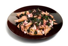 This beet greens and feta pasta recipe is a great, easy way to use beetroot tops from the farmers' market.