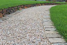 Brown granite setts