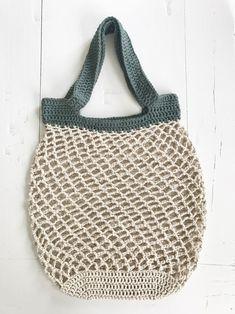 Netop – hæklet net – FiftyFabulous - Best Home Idea Diy Crochet And Knitting, Crochet Amigurumi Free Patterns, Crochet Food, Love Crochet, Crochet Stitches, Diy Tote Bag, Crochet Stars, Net Bag, Cotton Bag