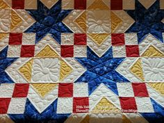 Thread Tales from a Scrappy Quilter: Texas theme fabrics Star quilt