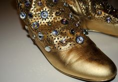 Diy Gold Shoes :) my design