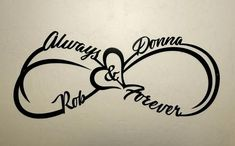 Custom Infinity Symbol with First Names, Heart, Always and Forever - Metal Name . - Custom Infinity Symbol with First Names, Heart, Always and Forever – Metal Name Sign – Personal - Infinity Name Tattoo, Infinity Couple Tattoos, Infinity Tattoo With Feather, Infinity Tattoo Designs, Couples Tattoo Designs, Name Tattoo Designs, Infinity Symbol, Heart Tattoos With Names, Name Tattoos For Moms