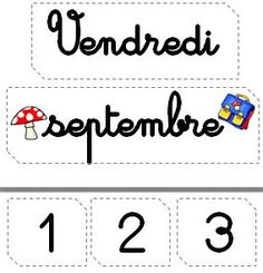 Etiquettes calendrier French Classroom, Classroom Walls, Classroom Displays, School Classroom, French Teaching Resources, Teaching French, School Organisation, French Worksheets, French Kids