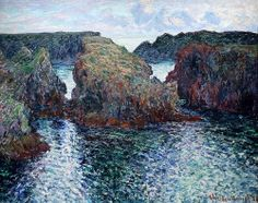 Belle-Ile, rochers de Port-Goulphar (C Monet - W 1095), 1886