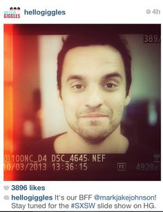Obsessed with him! New Girl Memes, Jake Johnson, Male Gender, Stop Staring, Nick Miller, Make Me Happy, Growing Up, Bff, Handsome