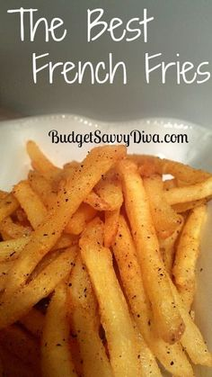 The BEST French Fries seasoning Recipe  1/2 Tsp of Garlic Salt (= 3 parts salt: 1part Garlic powder)  1/2 Tsp of Pepper  1/2 Tsp of Chili Powder  Pinch of Cayenne Powder  1/2 Tsp of Garlic Powder  1/2 Tsp of Paprika