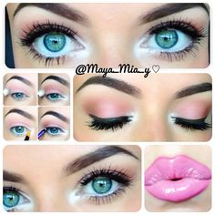 Morning extra quick and simple look     1.Apply mac sushi flower on lid and crease  2. mac texture crease and outer v   3. Smudge some fluidline mac dipdown o on the top lash line only.  4. Apply white eye pencil on the waterline and tear duct area and set it with nylon mac es  lips mac pink treat l/l and vivid imagination ls