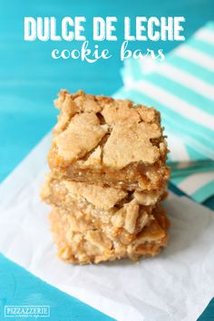 Ooey Gooey Dulce de Leche Cookie Bars! Watch out, these are ADDICTIVE.