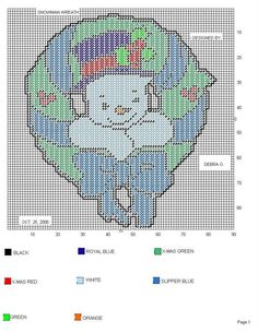 Snowman Wreath (Plastic Canvas)