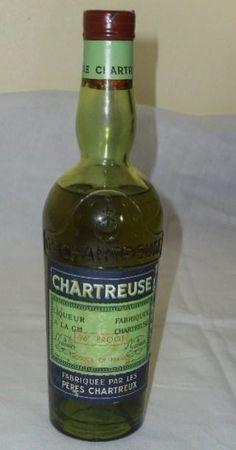 Vintage Green Chartreuse, half bottle, 1960's