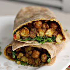 West Indian-Style Channa Wrap Recipe West Indian-style Channa Wraps // use LC tortillas; 1 cup of chickpeas (chana) = carbs less fiber for net carbs; this recipe serves so there are only net carbs per serving from the chickpeas. Wrap Recipes, Indian Food Recipes, Whole Food Recipes, Vegetarian Recipes, Cooking Recipes, Healthy Recipes, Ethnic Recipes, Vegetarian Sandwiches, Going Vegetarian