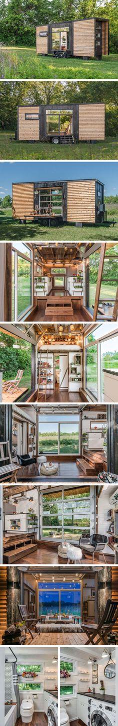 Дом на колесах Alpha Tiny House от компании New Frontier Tiny Homes #tinyhomesdigest #tinyhouse #smallhouse #ecohouse #countrylife #backyard #houseonwheels #camper #travel