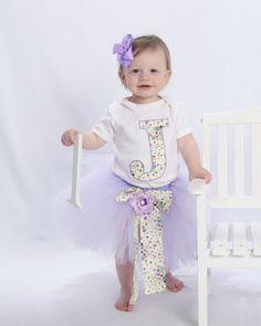 Personalized tutu set by www.BlissyCouture.net