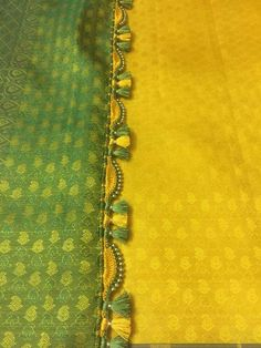 Saree Kuchu New Designs, Saree Tassels Designs, Kids Blouse Designs, Saree Blouse Neck Designs, Hand Work Blouse Design, Simple Blouse Designs, Stylish Blouse Design, Embroidery On Clothes, Beaded Embroidery