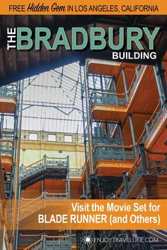 Are you Missing Hollywood's Amazing Unsung Hero? Discover the Bradbury Building in Downtown Los Angeles, California, a popular movie set and architectural masterpiece. --> Read more. Us Travel Destinations, Travel Expert, Travel Tips, London Big Ben, Bradbury Building, Los Angeles Travel, City Of Angels, Beautiful Sites, Los Angeles California